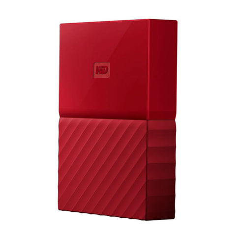 WD My Passport 4TB WDBYFT0040BRD Portable Hard Drive (Red)