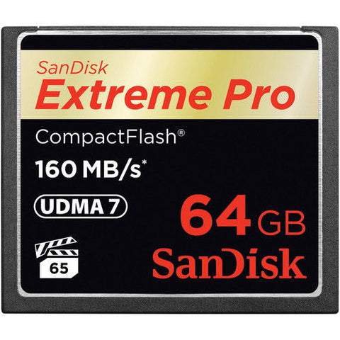 SanDisk Extreme PRO S 64GB SDCFXPS-064G (160MB/s) Compact Flash Memory Card