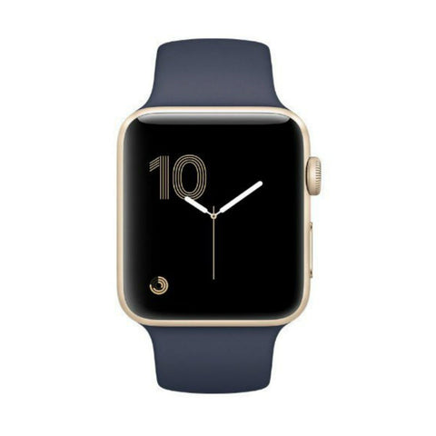 Apple Watch 2 42mm Gold Aluminum Case with Sport Band MQ152LL/A (Midnight Blue)