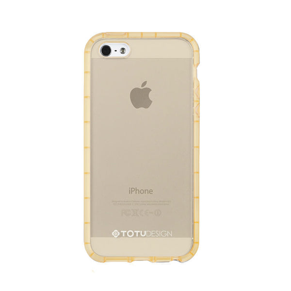 Anti-Shock Silicone Transparent Case for iPhone 5/5S/SE (Gold)