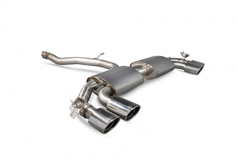 Audi TT S Mk3 Scorpion SAUS055 Non-resonated cat-back system (with valves)