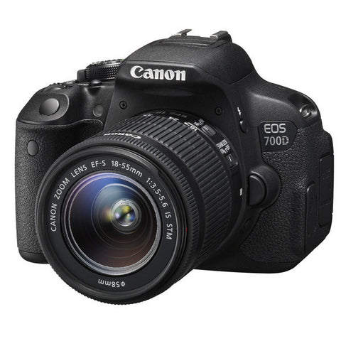 Canon EOS 700D Kit mit EF-S 18-55mm f/3.5-5.6 IS STM Objektiv Schwarz Digital SLR Kamera