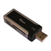 3-in-Line Kartenleser High Speed USB 3.0 TF / SD / MS (Schwarz)
