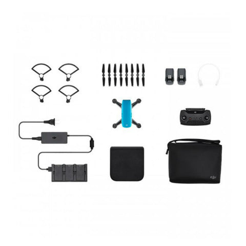 DJI Spark Fly Mehr Combo Mini Quadcopter Drohne (Himmelblau)
