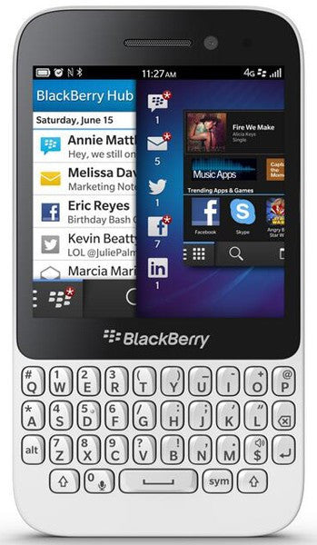 Blackberry Q5 4G LTE Weiß Unlocked (Arabische Version)