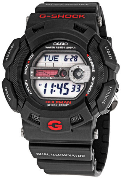 Casio G-Shock Gulfan Tide and Moon G-9100-1 Uhr (Neu mit Etikett)