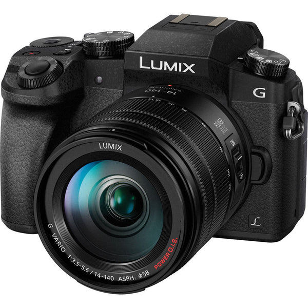Panasonic Lumix DMC-G7 mit 14-140mm II Objektiv Schwarz Mirrorless Micro Four Thirds Digital Kamera