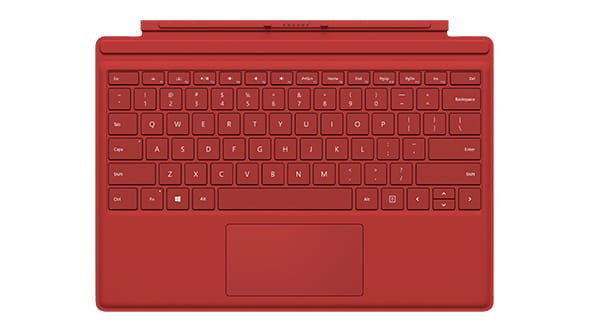 Microsoft Surface Pro 4 Type Tastatur Cover R9Q-00083 (Rot)