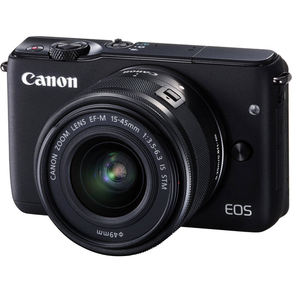 Canon EOS M10 mit EF-M 15-45mm f/3.5-6.3 IS STM Lens Schwarz Digital SLR Kamera