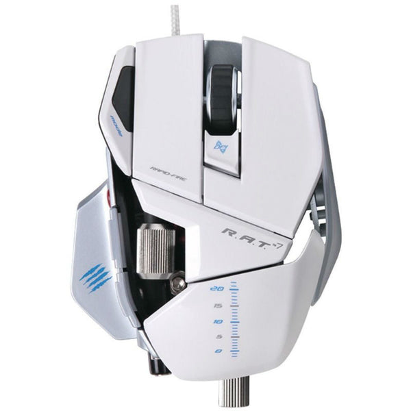 Mad Catz Cyborg R.A.T. 7 Gaming Mouse MCB4370800C1/04/1 (Weiß)