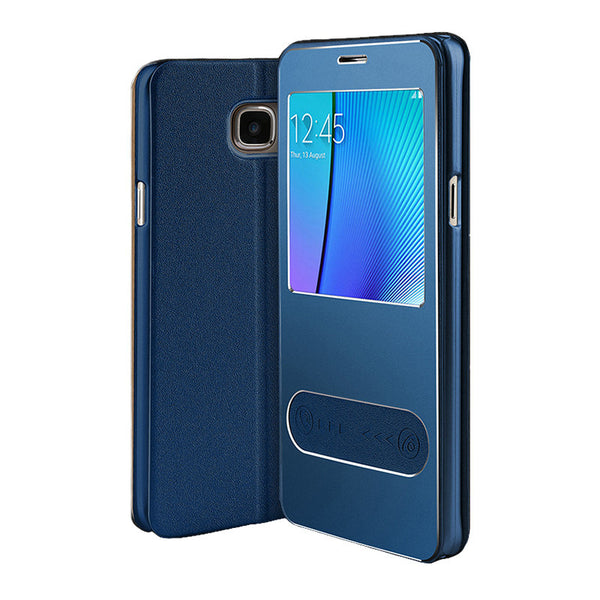 Samsung Galaxy Note 5 Leder Flip Cover (Sapphire)
