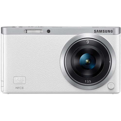 Samsung NX mini mit 9mm Objektiv Weiß Mirrorless Digitalkamera