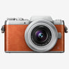 Panasonic Lumix DMC-GF8K mit 12-32mm Kit Objektiv (Orange Silber)