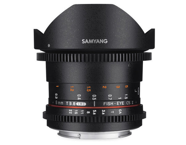 Samyang 8mm T3.8 UMC VDSLR Fish-Eye CS II Linse für Nikon