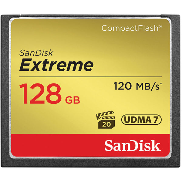 SanDisk Extreme S 128GB SDCFXSB-128G (120MB/s) Compact Flash Speicherkarte