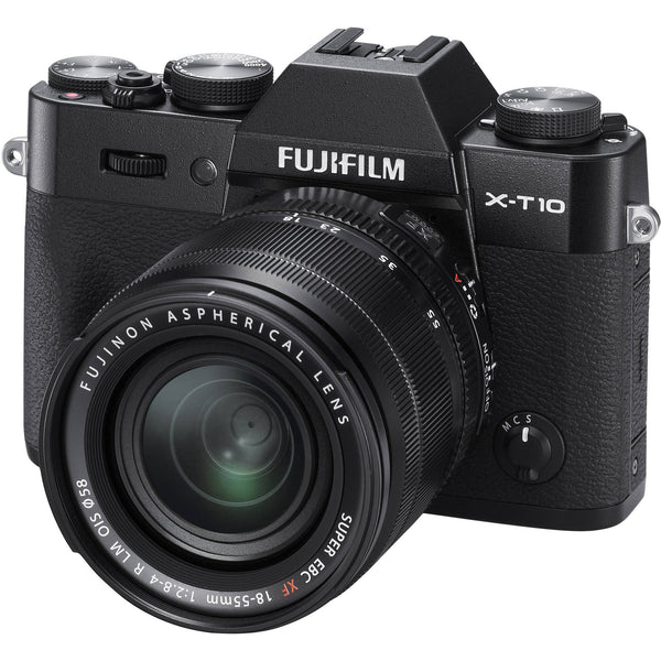 Fujifilm X-T10 Kit mit 18-55mm Schwarz Mirrorless Digitalkamera