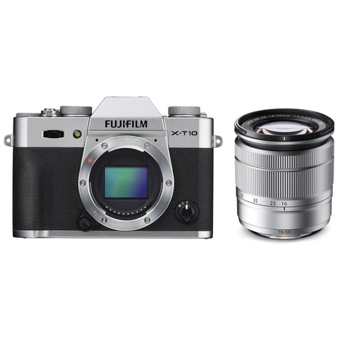 Fujifilm X-T10 Kit mit 16-50mm Silber Mirrorless Digitalkamera