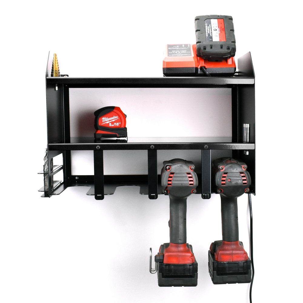 MegaMaxx Power Tool Storage Charging Station - Wall Mount Shelf Unit (4 Tool Capacity) (4537508167754)