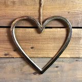 Aluminium Textured Hanging Heart