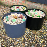 Powdercoated Colourful Steel Circular Planter