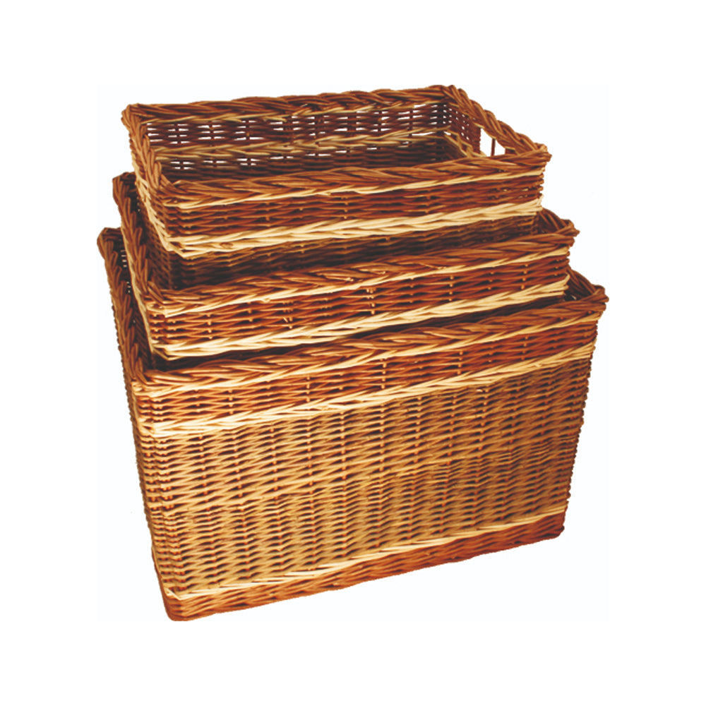 Buff Willow Log Baskets (3 Sizes Available)