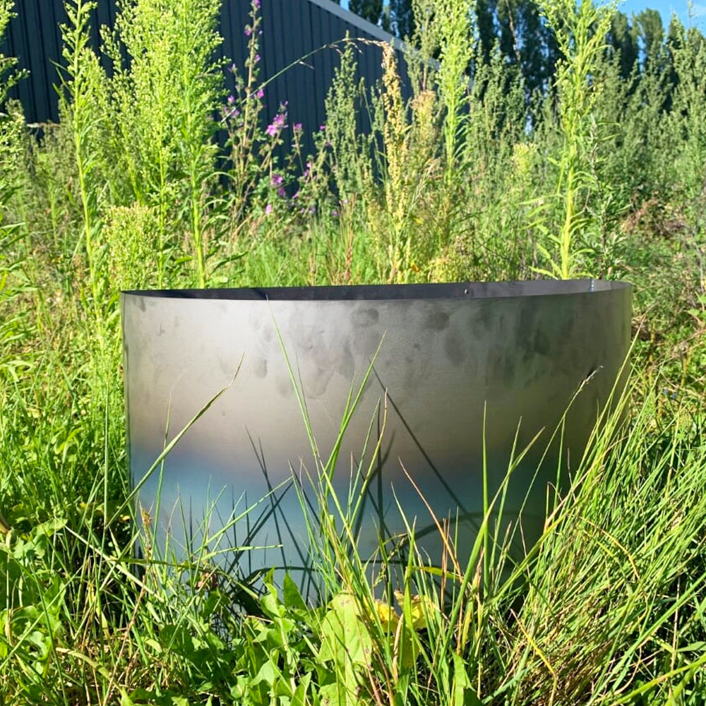 Semi-Circular Rustic Steel Raised Flower Bed & Tree Planter (4706381365322)