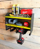 MegaMaxx Power Tool Storage Charging Station - Wall Mount Shelf Unit (4 Tool Capacity)