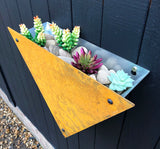 Rustic Steel Triangle Wall Mounted Planter