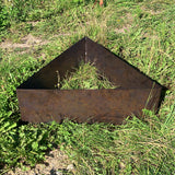 Triangular Rustic Steel Raised Flower Bed & Tree Planter (4707107995722)