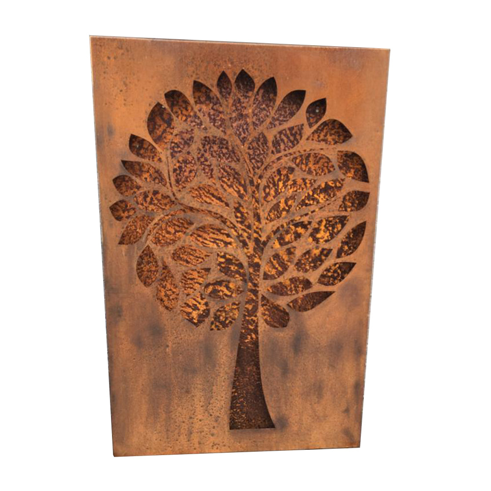 Rustic Steel Wall Mount Plaque - Tree Design (4588928794698)