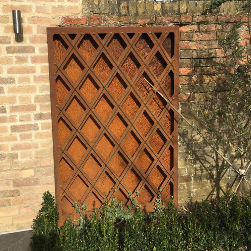 Rustic Steel Wall Mount Steel Trellis