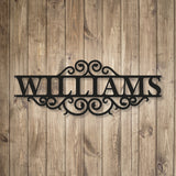 Premium Steel Monogram Name Sign Plaque - for Outdoor Use