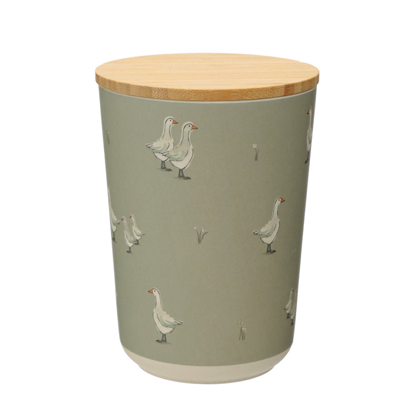 Duck Farm Goose Bamboo Storage Pot (Large)
