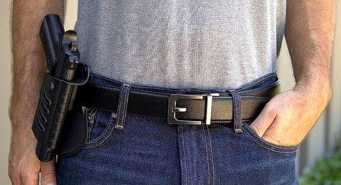Trakline No-Hole, Ratchet style belt for EDC and concealed firearm carry by Kore Essentials. Trackline gun belts