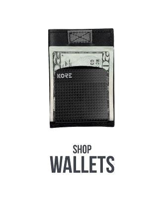 Shop Kore Slim Wallets.  Men's minimalist full-grain leather wallets with RFID protection by Kore Essentials.