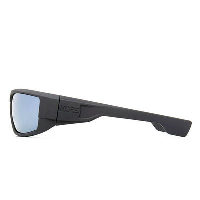 "Kore ""Badlands"" Neo-Lock Sunglasses use smart magnets so you can attach them to your shirt, jacket or gear when not in use. Men's Polarized Shades."