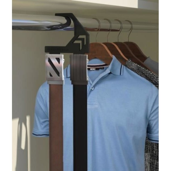 Belt Hanger let's you hang 1-2 Kore ratchet belts in your closet