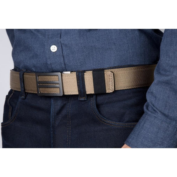 Included with our tactical gun belts is a Black Elastic Belt Keeper.