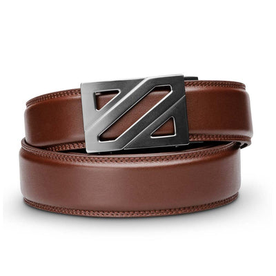 "Kore ""Epic"" Ratchet Buckle & Cordovan Full-Grain Leather Track Belt.  No-Hole, ratchet belts that fit perfect every time. Kore Essentials"