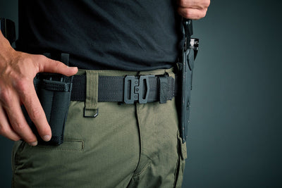 "Kore Essentials Garrison Belts (1.75"" wide) designed to carry up to 10 lbs of guns and gear."