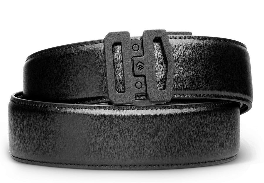Garrison Belt 1.75 inches wide ratchet belt by Kore Essentials.