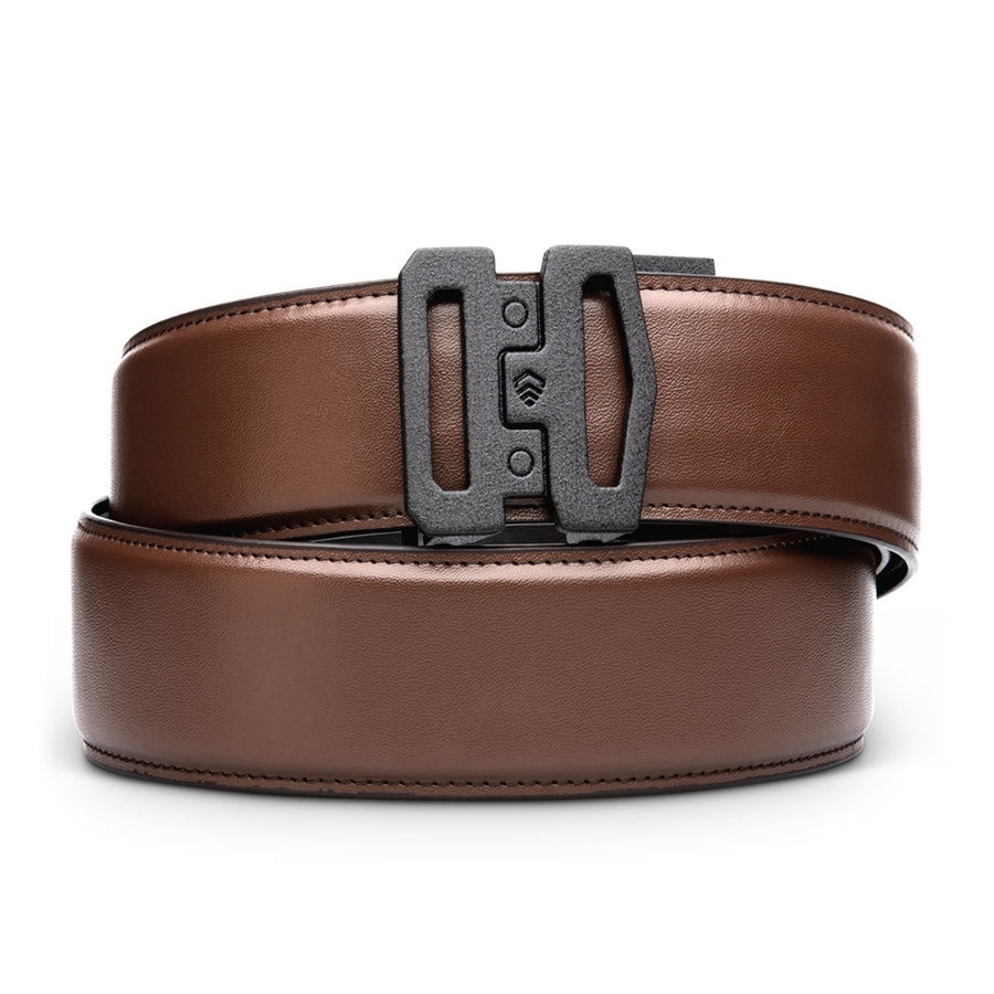 "G1 BUCKLE | BROWN LEATHER GARRISON BELT [1.75""]"
