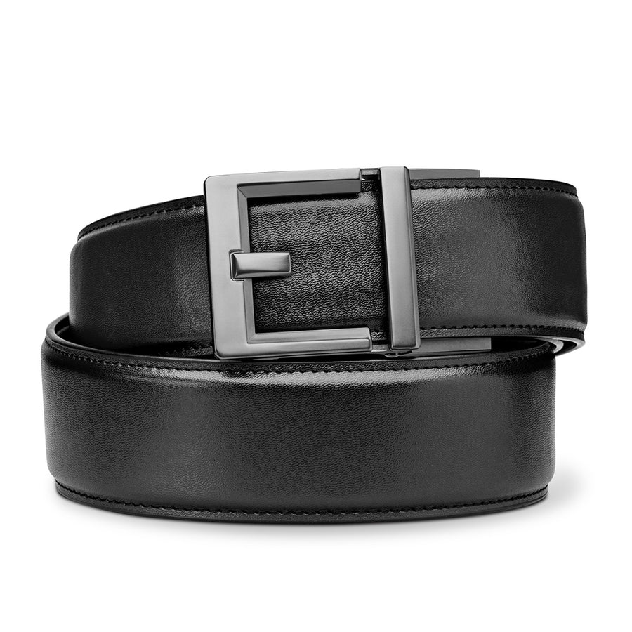 "G2 BUCKLE | BLACK LEATHER GARRISON BELT [1.75""]"
