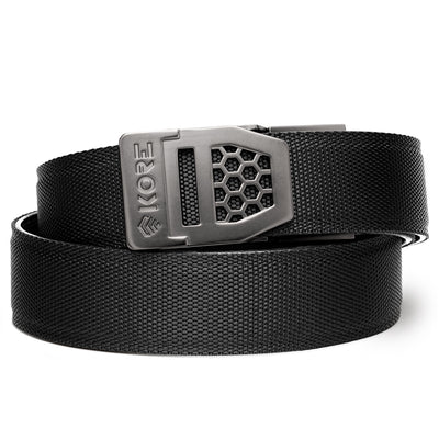 X6 GUNMETAL BUCKLE | BLACK TACTICAL GUN BELT