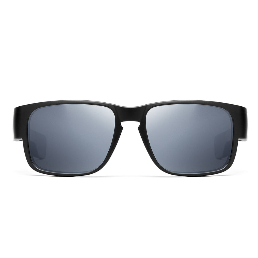 "Kore  ""Reckless"" Neo-Lock Sunglasses use smart magnets so you can attach them to your shirt, jacket or gear when not in use. Men's Polarized Sunglasses."