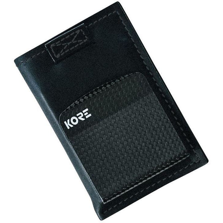87501116f0e Slim Wallet with removable carbon fiber money clip by Kore Essentials. RFID  Blocking protection and