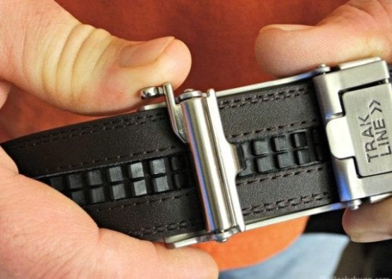 Kore EDC gun belt buckle - backside view with track.