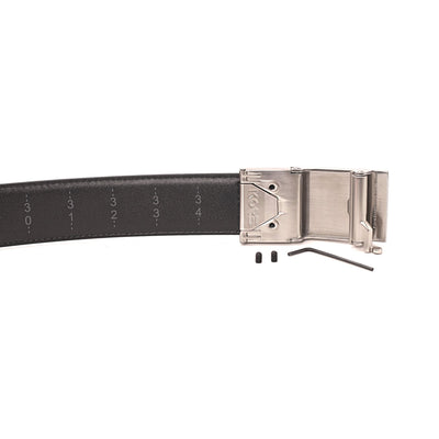 Kore X4 gun buckle - backside view with set screws and hex wrench (included). #gunbelt #kore  #ratchetbelt #trackbelt