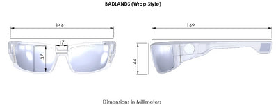 "Kore ""Badlands"" Sunglass Dimensions. Kore Magnetic Sunglasses for Men."