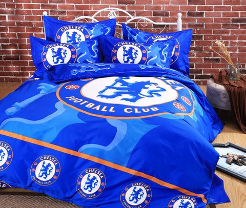 3D Football Club Soccer Teams Bed Sets (Duvet Cover Quilt Cover Sheets and Pillowcases Queen/Double/Full/Twin Size 100TC)